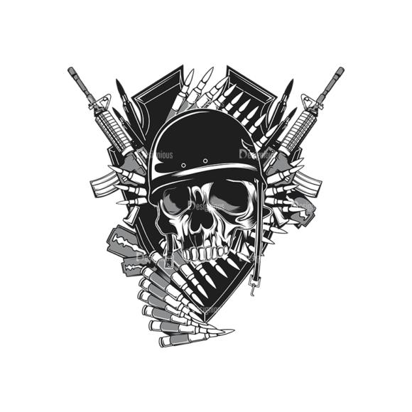 Skull Vector Clipart 14-2 Clip Art - SVG & PNG vector
