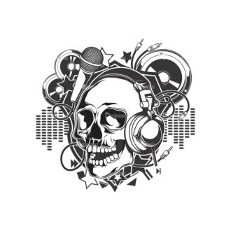 Skull Vector Clipart 15-2 Clip Art - SVG & PNG vector