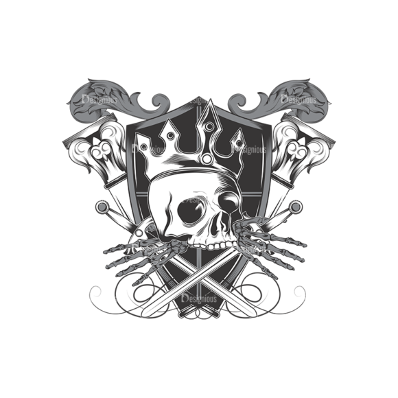 Skull Vector Clipart 16-3 Clip Art - SVG & PNG vector