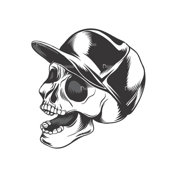 Skull Vector Clipart 16-6 Clip Art - SVG & PNG vector