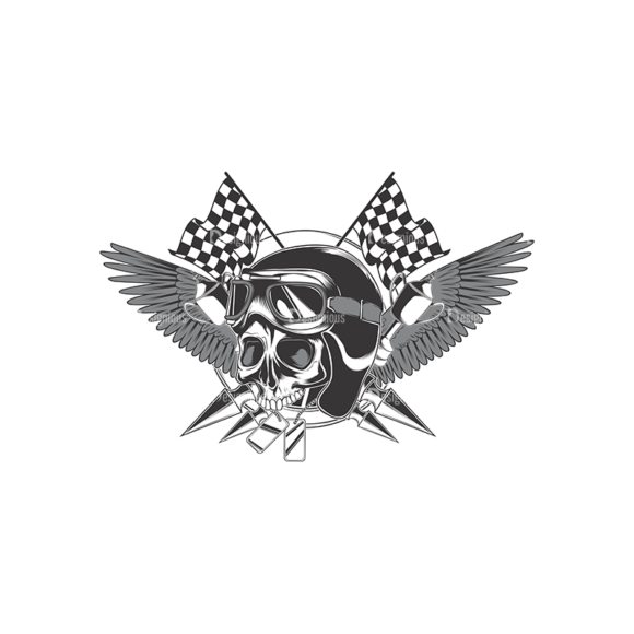 Skull Vector Clipart 17-1 skulls pack 17 1 preview