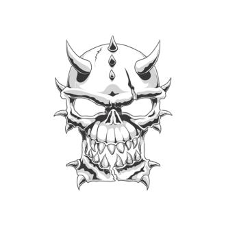 Skull Vector Clipart 18-12 Clip Art - SVG & PNG vector