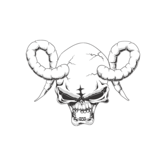 Skull Vector Clipart 18-4 Clip Art - SVG & PNG vector