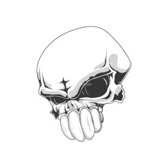 Skull Vector Clipart 18-8 Clip Art - SVG & PNG vector