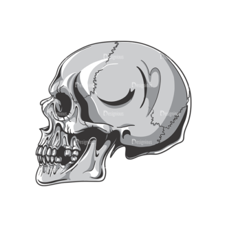 Skull Vector Clipart 19-3 Clip Art - SVG & PNG vector