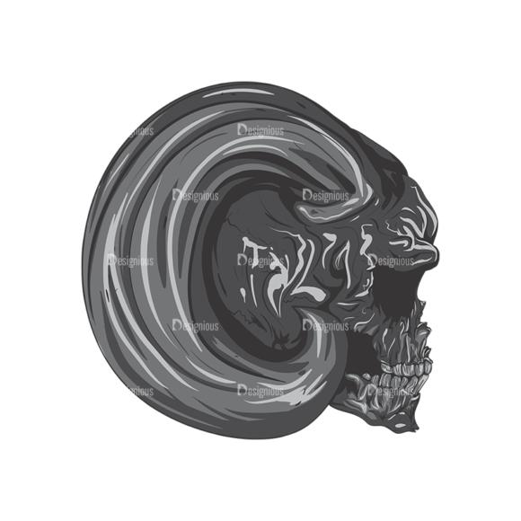 Skull Vector Clipart 2-10 Clip Art - SVG & PNG vector