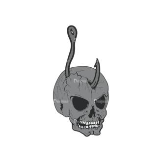 Skull Vector Clipart 2-12 Clip Art - SVG & PNG vector