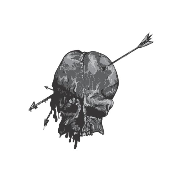 Skull Vector Clipart 2-2 Clip Art - SVG & PNG vector