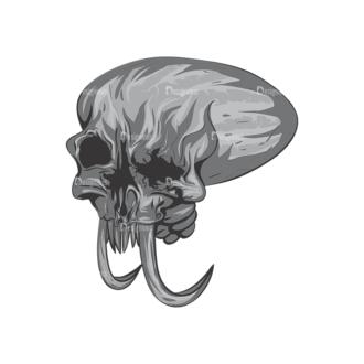 Skull Vector Clipart 2-4 Clip Art - SVG & PNG vector