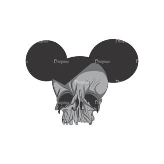 Skull Vector Clipart 2-8 Clip Art - SVG & PNG vector