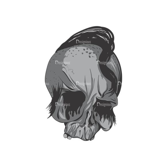 Skull Vector Clipart 2-9 Clip Art - SVG & PNG vector