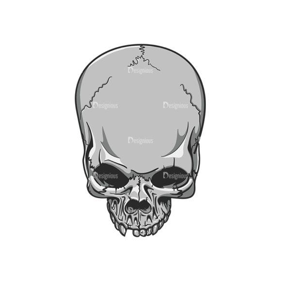 Skull Vector Clipart 20-2 Clip Art - SVG & PNG vector