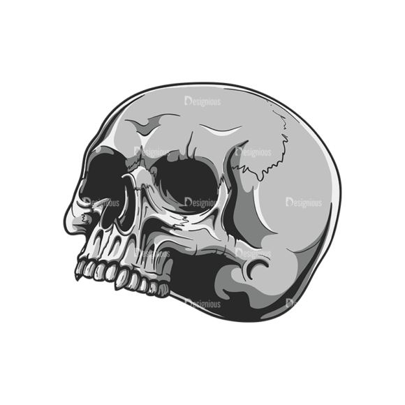 Skull Vector Clipart 20-3 skulls pack 20 3 preview