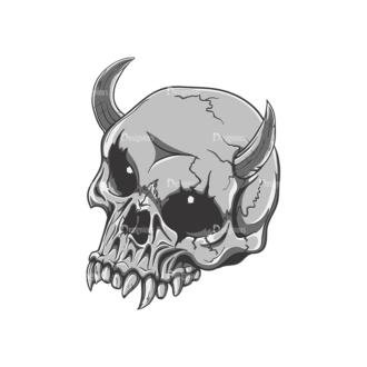 Skull Vector Clipart 21-5 Clip Art - SVG & PNG vector