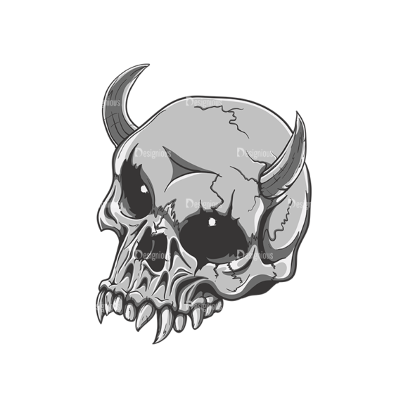 Skull Vector Clipart 21-5 skulls pack 21 5 preview