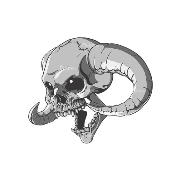 Skull Vector Clipart 21-7 skulls pack 21 7 preview