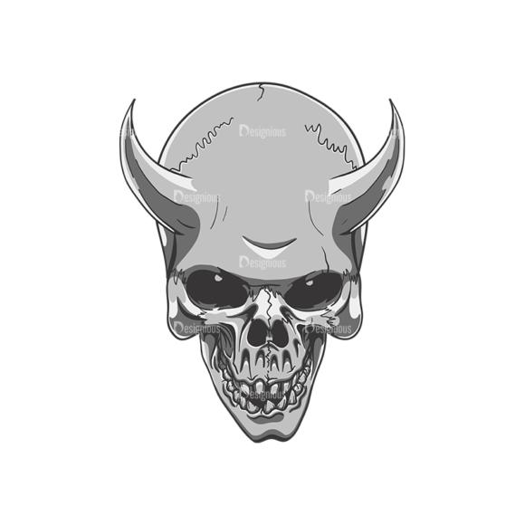 Skull Vector Clipart 21-8 skulls pack 21 8 preview