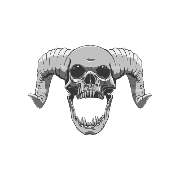 Skull Vector Clipart 21-9 Clip Art - SVG & PNG vector