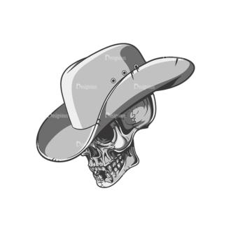 Skull Vector Clipart 22-4 Clip Art - SVG & PNG vector