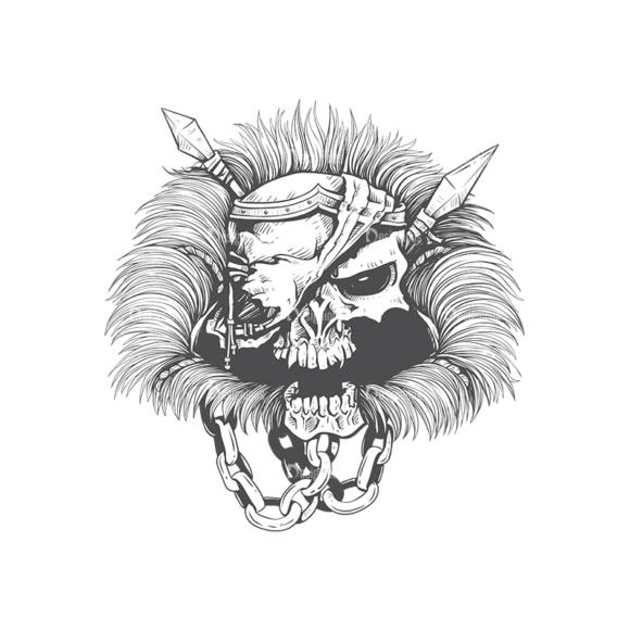 Skull Vector Clipart 23-1 Clip Art - SVG & PNG vector