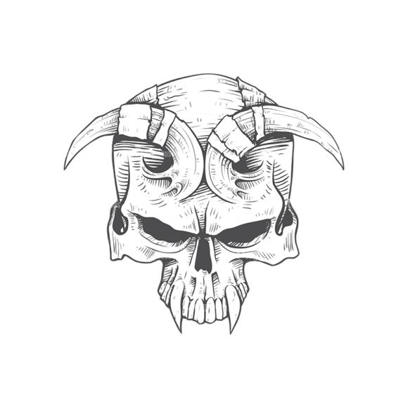 Skull Vector Clipart 23-4 Clip Art - SVG & PNG vector