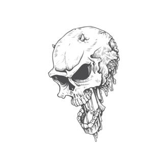 Skull Vector Clipart 23-5 Clip Art - SVG & PNG vector