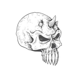 Skull Vector Clipart 23-6 Clip Art - SVG & PNG vector