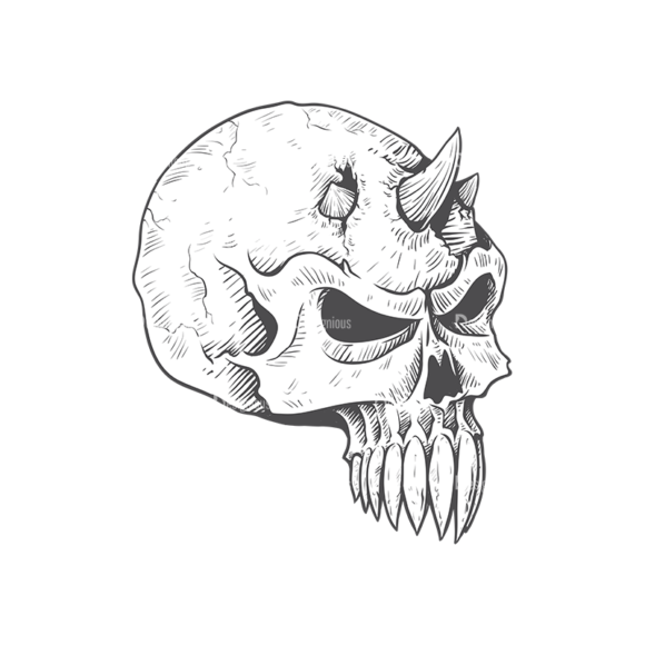 Skull Vector Clipart 23-6 skulls pack 23 6 preview