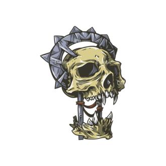 Skull Vector Clipart 24-2 Clip Art - SVG & PNG vector