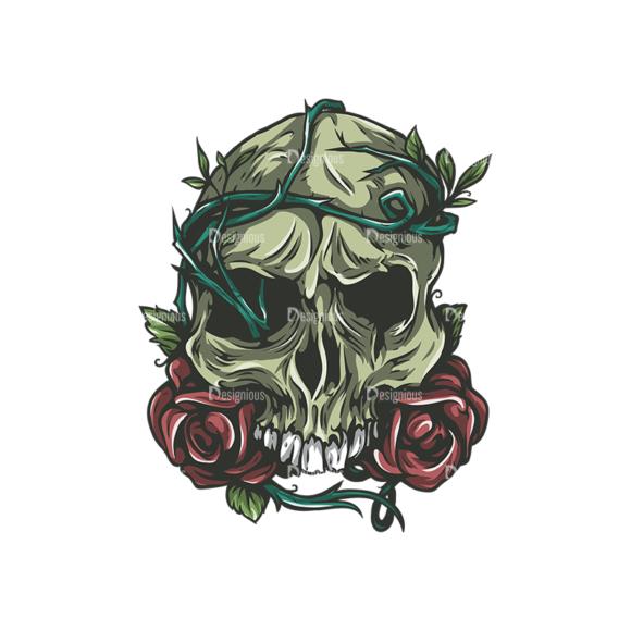 Skull Vector Clipart 24-6 skulls pack 24 6 preview