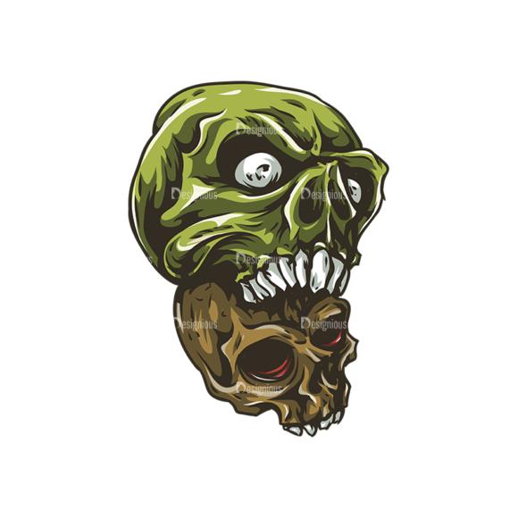 Skull Vector Clipart 25-3 Clip Art - SVG & PNG vector