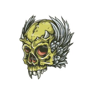 Skull Vector Clipart 25-4 Clip Art - SVG & PNG vector