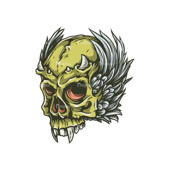 Skull Vector Clipart 25-4 skulls pack 25 4 preview