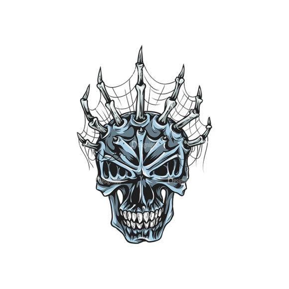 Skull Vector Clipart 25-5 Clip Art - SVG & PNG vector