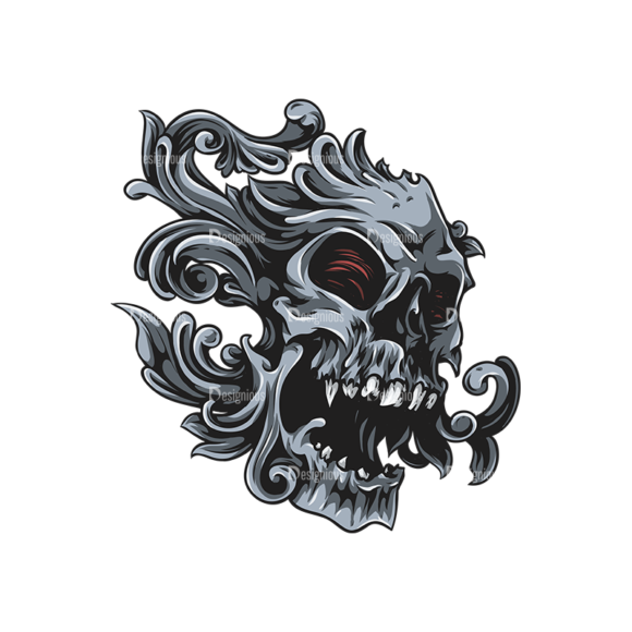Skull Vector Clipart 26-1 Clip Art - SVG & PNG vector