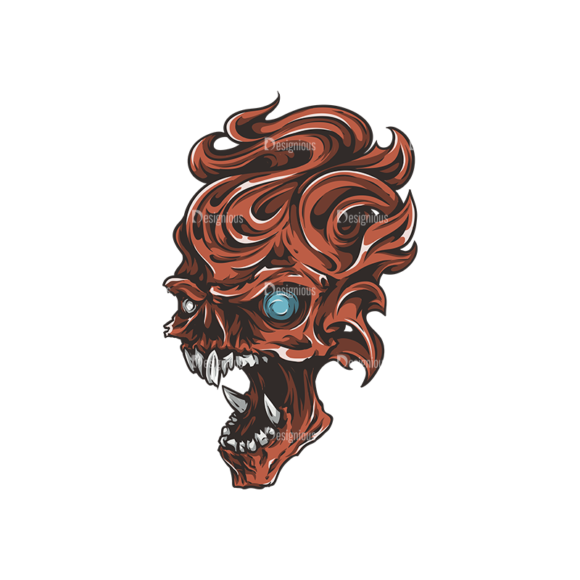 Skull Vector Clipart 26-3 Clip Art - SVG & PNG vector