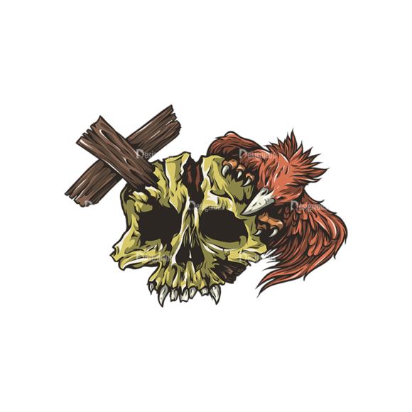 Skull Vector Clipart 26-6 Clip Art - SVG & PNG vector