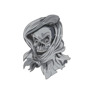 Skull Vector Clipart 3-1 Clip Art - SVG & PNG vector
