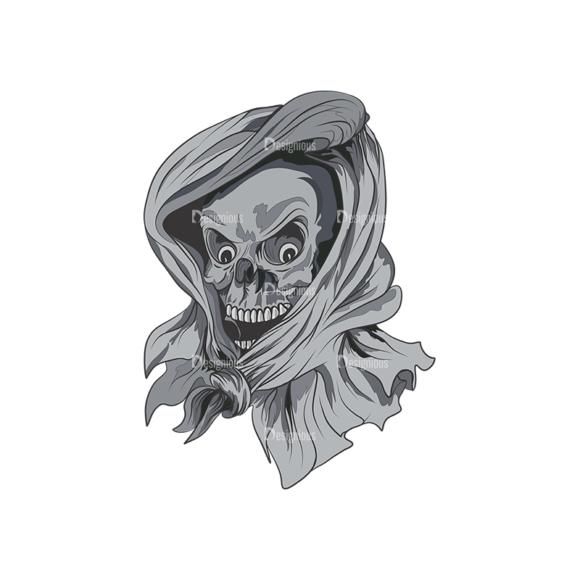 Skull Vector Clipart 3-1 skulls pack 3 1 preview