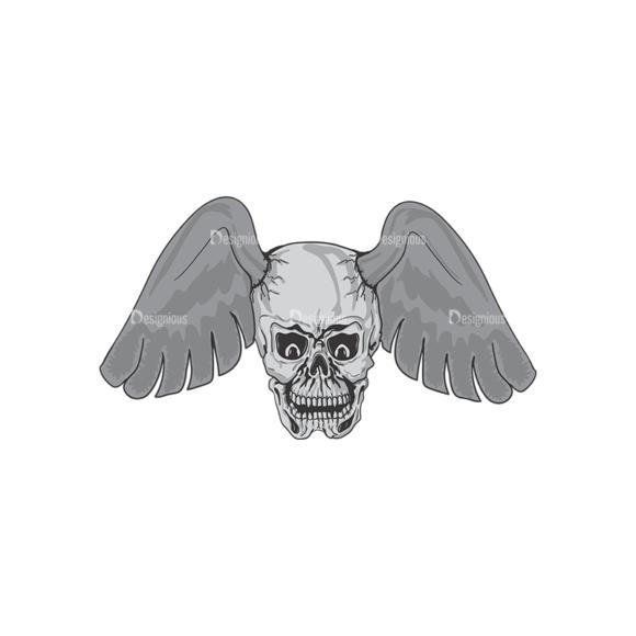 Skull Vector Clipart 3-10 Clip Art - SVG & PNG vector