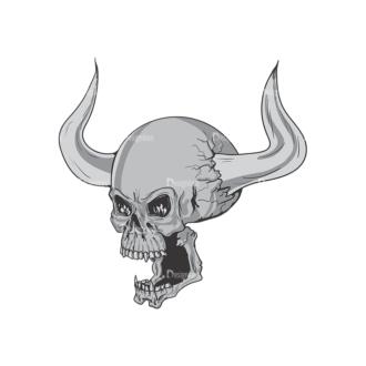 Skull Vector Clipart 3-12 Clip Art - SVG & PNG vector
