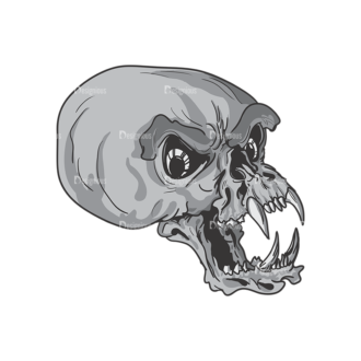 Skull Vector Clipart 3-13 Clip Art - SVG & PNG vector