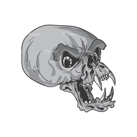 Skull Vector Clipart 3-13 skulls pack 3 13 preview
