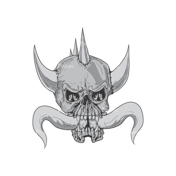 Skull Vector Clipart 3-14 skulls pack 3 14 preview