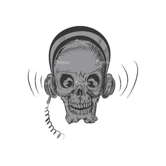 Skull Vector Clipart 3-4 Clip Art - SVG & PNG vector