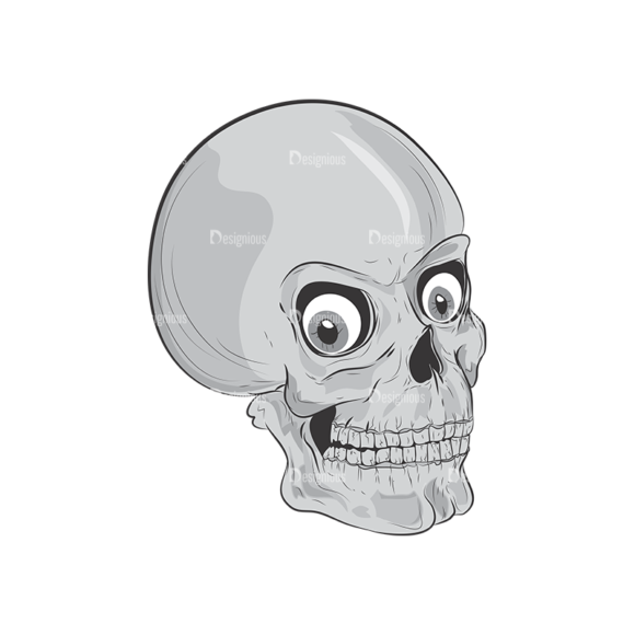 Skull Vector Clipart 3-6 skulls pack 3 6 preview