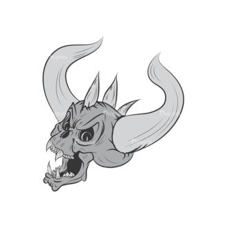 Skull Vector Clipart 3-7 Clip Art - SVG & PNG vector