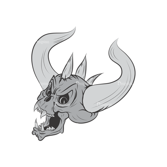 Skull Vector Clipart 3-7 skulls pack 3 7 preview