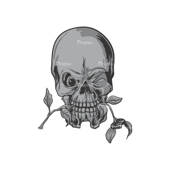 Skull Vector Clipart 3-8 Clip Art - SVG & PNG vector