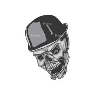 Skull Vector Clipart 3-9 Clip Art - SVG & PNG vector